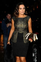 Kelly Brook Night Out Style - Sunday Times Style Christmas Party at Tramp Night Club in London - Dec. 2014