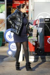 Kelly Brook Street Style - at a Gas Station in Kent, England - Dec. 2014