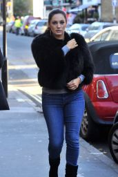 Kelly Brook Street Style - Out in London Visiting a Beauty Salon - December 2014