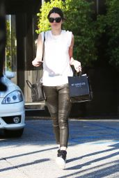 Kendall Jenner in Leather Pants - Out in Beverly Hills, Dec. 2014
