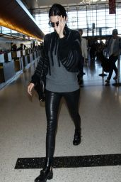 Kendall Jenner Style - At LAX Airport in Los Angeles - December 2014