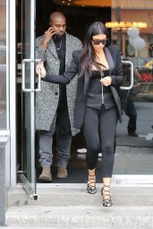 Kim Kardashian and Kanye West Have Lunch in Hollywood, December 2014
