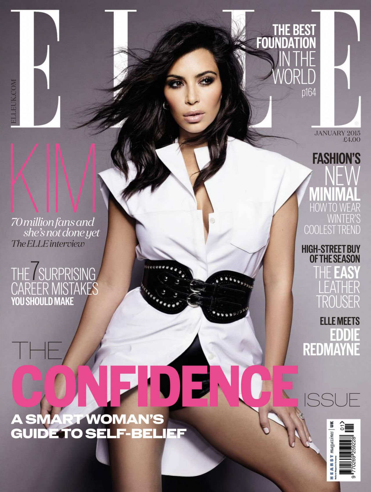 Kim Kardashian Elle Magazine Uk January 2015 Photos