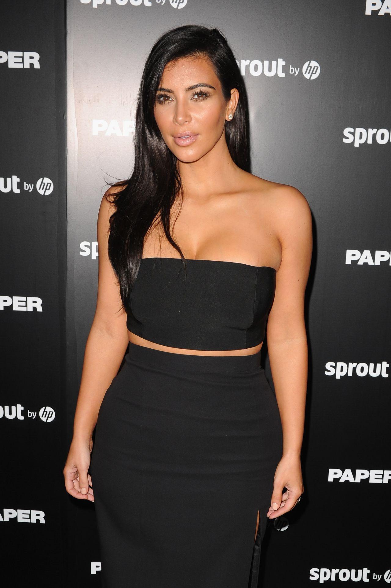 Kim kardashian arrivals at the break the internet issue