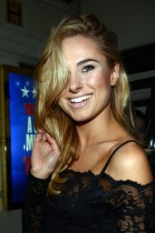 Kimberley Garner Night Out Style - Piccadilly Theatre in London - November 2014
