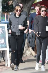 Kristen Stewart Casual Style - Out With a Friend in Los Angeles, December 2014