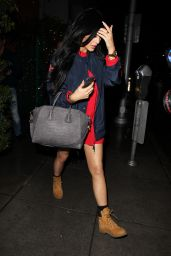 Kylie Jenner Night Out Style - Leaving Mr. Chows in Beverly Hills, Dec. 2014