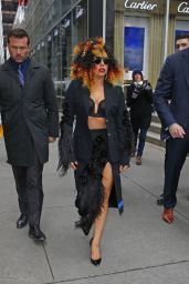 Lady Gaga Fashoun - Out in New York City, December 2014