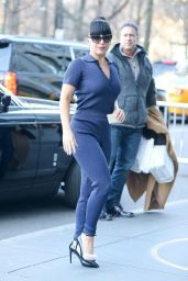 Lady Gaga Street Fashion - Heading to Yoga Class in New York City - November 2014