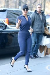 Lady Gaga Street Fashion - Heading to Yoga Class in New York City - November 2014