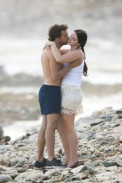 Lana Del Rey and Boyfriend Francesco Carrozzini at a Beach in St Barts - December 2014