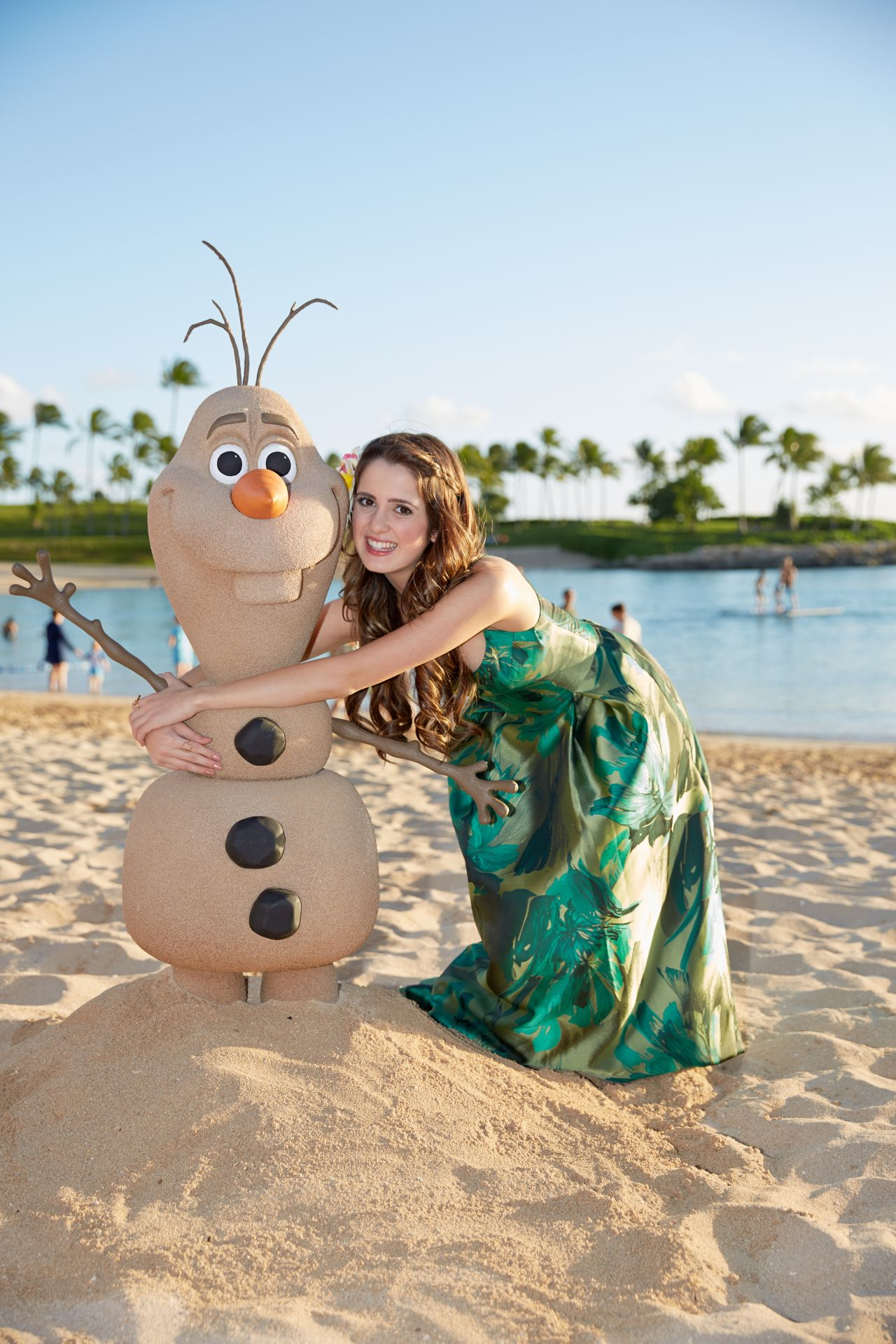Laura Marano Filming A Disney Christmas 2014 Special In