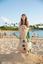 Laura Marano - Filming a Disney Christmas 2014 Special in Hawaii
