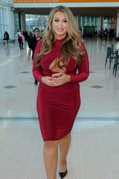 Lauren Goodger in Red Dress - Clothes Show Live in Birmingham - December 2014