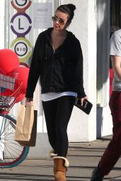 Lea Michele Casual Style - Out in LA - December 2014