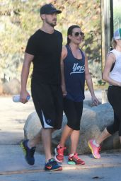 Lea Michele - Hiking in Studio City - December 2014