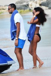 Leigh-Anne Pinnock Bikini Candids - Barbados, December 2014
