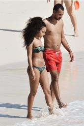 Leigh-Anne Pinnock in a Bikini on the Beach in Barbados - December 2014
