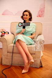 Lily Collins Lancome interview in Taiwan (2014)