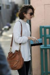 Lily Collins Street Style - Out in Beverly Hills, December 2014