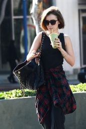 Lily Collins - Strolls Out in West Hollywood - December 2014