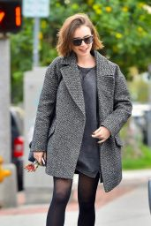 Lily Collins Style - Out in Beverly Hills, December 2014