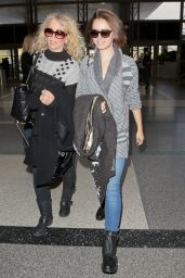 Lily Collins With Her Mom - at LAX Airport - December 2014