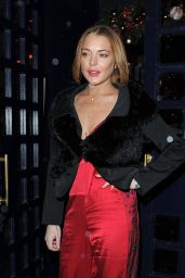 Lindsay Lohan Night Out Style - The Sunday Times Style Christmas Party, December 2014