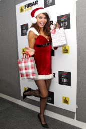 Lizzie Cundy - Naughty Santa outfit for Fubar Radio Christmas 2014 Party