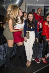 Louisa Lytton & Abi Clark Night Out Style - at the Nu Bar Loughton Essex, December 2014