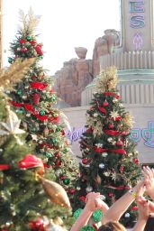 Lucy Hale - Disney Frozen Christmas 2014 Celebration in Lake Buena Vista