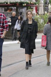 Maia Mitchell Street Style - Out at The Grove in West Hollywood, December 2014