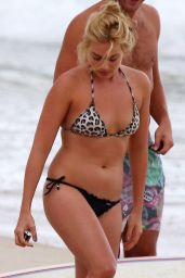 Margot Robbie in a Bikini at a Beach in Byron Bay, December 2014
