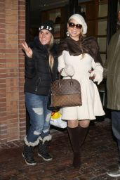 Mariah Carey Style - Shopping in Aspen - December 2014