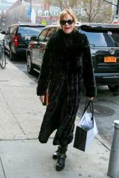 Melanie Griffith Style - Out in New York City, Dec. 2014