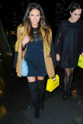 Michelle Keegan Style - Leaving the Australasia Restaurant in Manchester, December 2014