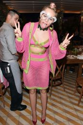 Miley Cyrus at Jeremy Scott and Moschino