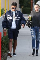 Miley Cyrus in Ripped Jeans - Out in Studio City, December 2014