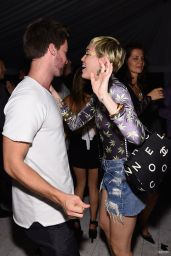 Miley Cyrus Night Out Style - at Hublot Haute Living Party in Miami Beach, Dec. 2014