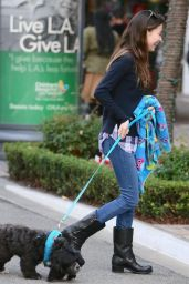 Miranda Cosgrove Walking Her Dog while shopping at the Grove in Los Angeles - Dec. 2014