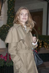 Natalia Vodianova Style - Leaves the Bristol Hotel in Paris - December 2014