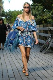 Nicky Hilton in Summer Dress - Out In Miami, December 2014