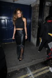 Nicole Scherzinger Night Out Style - Leaving the London Palladium - December 2014