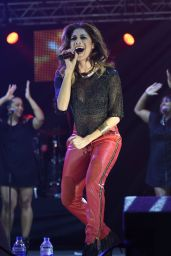 Nicole Scherzinger Performs at Key 103 Christmas Live Concert in Manchester - December 2014