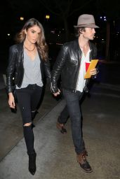 Nikki Reed and Boyfriend Ian Somerhalder - Arriving at the Staples Center in Los Angeles, Dec. 2014