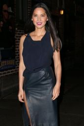 Olivia Munn Arriving to Appear on Late Show with David Letterman in New York City - December 2014