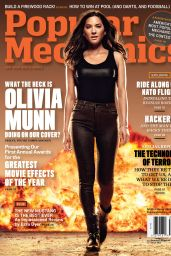 Olivia Munn - Popular Mechanics Magazine - February 2015 Cover and Photos
