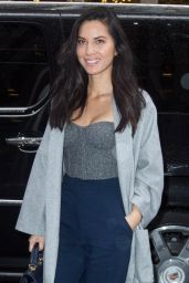 Olivia Munn Style - Arriving at SiriusXM Studios in New York City - Dec. 2014