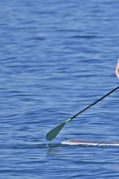 Olivia Wilde Paddleboarding in Bikini in Maui, Hawaii - December 2014
