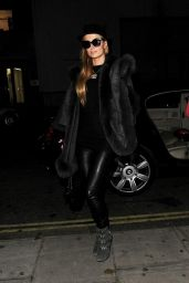 Paris Hilton Night Out Style - Chiltern Firehouse in London, December 2014